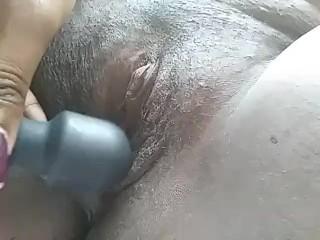 Nipple clamps & vibrator fun for this BBW