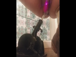 Barbie squirts after being pounded by machine