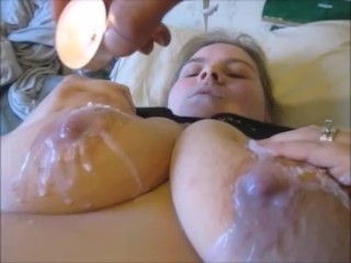 Extreme Wax Torturing Hot Wax on Pussy, Nipples,& Butt With Insane Orgasm