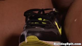 Feet fetish english hunks jizzing on sneaker
