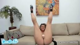 Kelsi Monroe big ass masturbating with dildo.