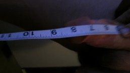8inch x 6inch White Dick Measurement
