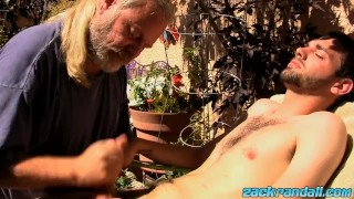 Bj jeremy with taking dick wild of care sexy strong js cox off blowjob