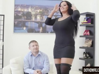 Preview 1 of Swinger slut Ashley Cumstar fucked in front of husband