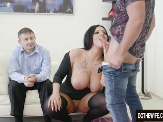 Preview 5 of Swinger slut Ashley Cumstar fucked in front of husband