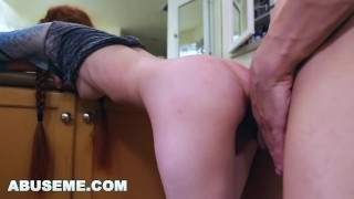 ABUSEME - Petite Redhead Dolly Little Likes it Rough and Hard Bj old