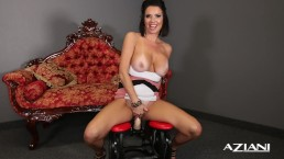 BABE RIDES THE DILDO ROCKER