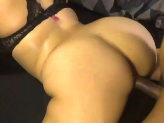 Slutty gets her tight pussy ass nutted on...