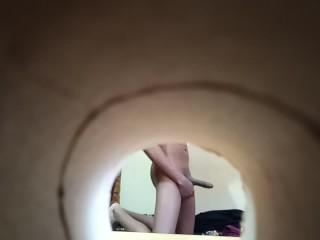 Spying Through A Hole On My College Roommate