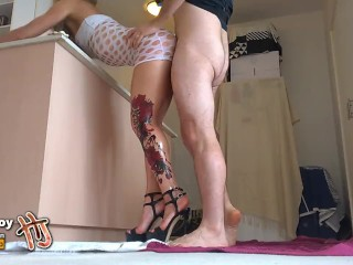 HandJoy * Hira, most stunning oiled legs ever, fucked in High Heels