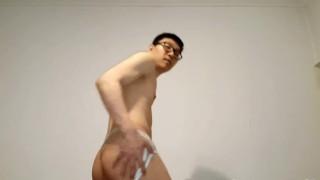 Giant Flexing Cashmaster Aiden Lee in a Jockstrap  korean amazon tribute asian kink giant worship dominant jockstrap laughing smiling wishlist hotkoreanboy93 flexing master god