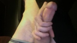 How a huge white boy cock gets handled with lots of cum