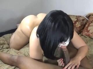 wife fucks neighbor while husband\'s ot! get\'s pounded hard & deep throats!!