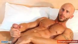 Nicolas, handsome big balls's gym trainer to massage in spite of him.