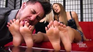 Naomi Swann & Maia Evon Foot Worship Slave Brattyfootgirls.com