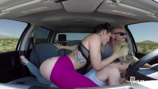 Epic Road Head 3some, Sucking and Fucking in a Truck! SINS SEX TOUR!