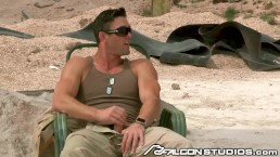 Commanding Officer Ryan Rose Fucks on Combat Zone