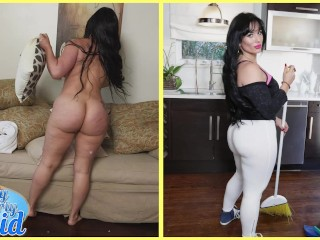 BANGBROS - Cuban MILF Maid Carmen De Luz Drops Her Big Ass On J-Mac