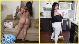 BANGBROS Cuban MILF Maid Carmen De Luz Drops Her Big Ass On J Mac