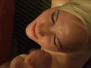 Hot Slut Drains Married Man's Balls Facial