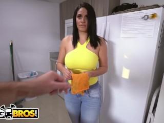 Preview 1 of BANGBROS - Slamming My Hot Cuban Maid Cristal Caraballo's Big Ass