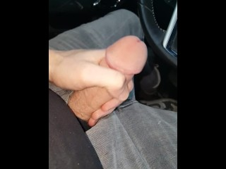 Jerking it at work in car