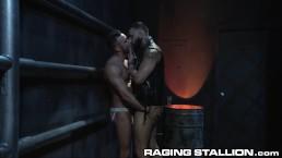 RagingStallion Bearded DILF Licks & Fucks Furry Ass