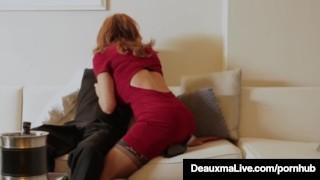 Horny Cougar Babe Deauxma Fucks Room Service Guy in Hotel! Hj pov
