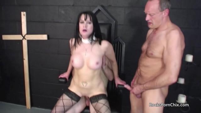 Big Tits;Brunette;MILF;Gangbang;British rockspornchix, gangbang, church, shaved-pussy, stockings, blowjob, cum-on-pussy, cum-in-mouth, high-heels, british, tanya-cox, milf