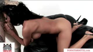 Audrey Bitoni Beautiful Latina cums so hard riding a monster cock!