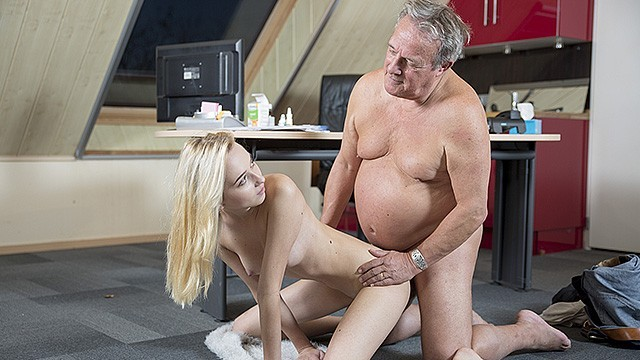 Grandpa and grandaughter porn Young old porn martha gives grandpa a blowjob and has sex with his old dick