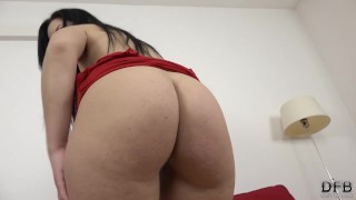 Filling her big juicy ass with hot cum after fucking her hardcore