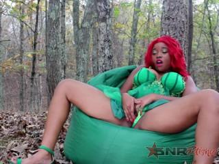 Getting off as Super Villian Poison Ivy/ Nina Rivera