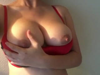 Naturally engorged breasts...