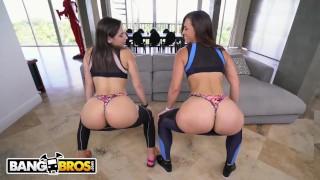 Preview 3 of BANGBROS - Kelsi Monroe VS Abella Danger, Twerking and Fucking