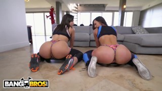 BANGBROS - Kelsi Monroe VS Abella Danger, Twerking and Fucking
