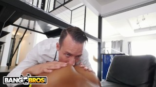 Fucking him her butler's ebony makes pornstar day young by bangbros brown bkb16182
