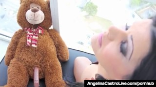 Cuban Babe Angelina Castro Fucks Her Teddy Bear In 2012 Vid!