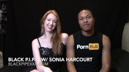 Black Pipe Interviews Red-headed Porn Amateur Sonia Harcourt