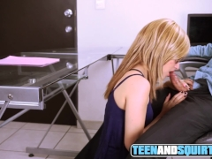 Blonde Assistant With Glasses Bj Until I Jism On Her Face In The Office