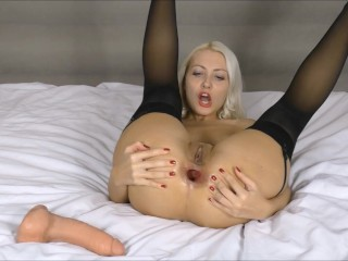 Used a huge dildo for my asshole Webcam russian girl Anal