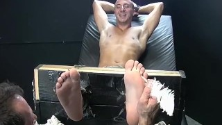 Feet play, massage and tickleing with Collins and Franco Spank point