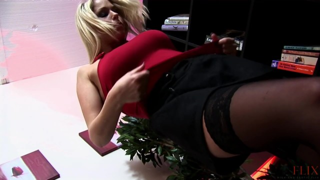 Blonde Babe Analized By Three Cocks 4