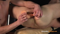 Slave Turned Master BDSM DreamBoyBondage Jared Double Fuck DP Dildo Gay