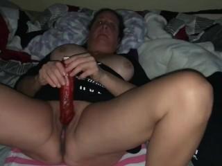 Dina in stockings