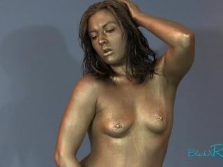 Ageless Beauty- Freeze Fetish Human Statue Transformation BlackxRose92