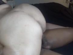 Hot wife ride's huge black cock, creampie finish! pt 1