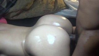 Big butt wife get's pounded while husband gone & get's cumshot on ass!  doggy style big ass point of view bubble booty bouncy ass fucked hard big cock bbc big dick butt rough slut cum shot big butt back shots oiled ass