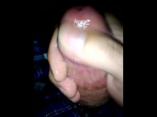 Stroking My Long Fat Cock