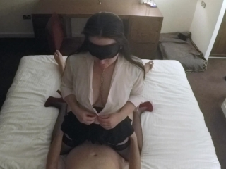 Horny Secretary Facial in Hotel
